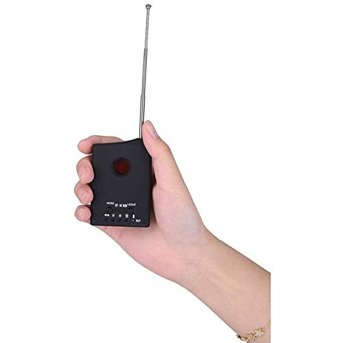 HBBOOI Detector Anti espía, Detector de señal Anti espía inalámbrico Antiandid cámara Hidden gsm Audio Bug de Audio Buscador GPS Lente de señal RF Sensors