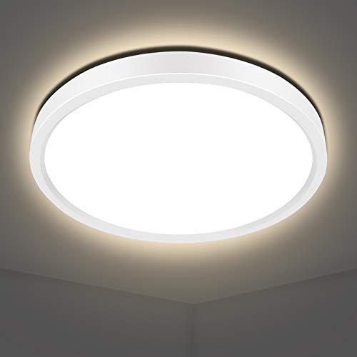 LED Deckenleuchte 20w, AVANLO Ø40cm Deckenlampe LED Deckenleuchte Rund Bad Küchenlampe 2800lm, Wohnzimmerlampe Badezimmer Lampe, Deckenlampe für Büro, Dünn, 4000k