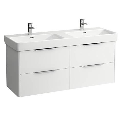 Laufen H4025141102601 Waschbeckenunterschrank, 4 Schubladen, für Waschbecken 814968, Farbe: Schnee (Weiß matt) Ormalicht