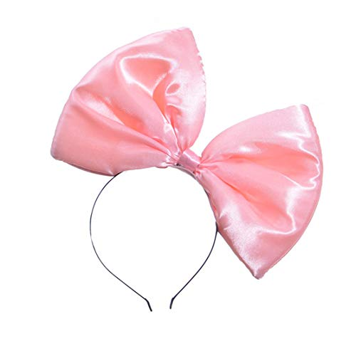 YueLian Damen/Mädchen Haarband mit großer Schleife,Kopfband Kopfschmuck Haarreife verschiedene Fraben(rosa)