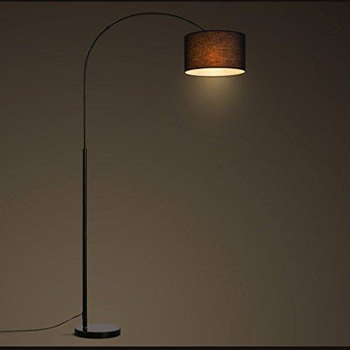 MILUCE Lampe de Plancher Nordique Chambre à Coucher Salon Salle à Manger créative Minimaliste Moderne Lampe de Plancher de Livre à pêche à Bras Long (Couleur : Blanc Chaud)