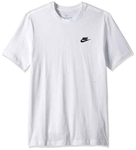 NIKE M NSW Club tee Camiseta de Manga Corta, Hombre, White/Black
