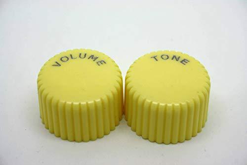 Knöpfe für Cupcake Volumen und Ton für Harmony Silvertone Gitarren – Creme und Braun cremefarben