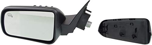 Mirror Compatible with 2008-2011 Ford Focus Power Heated 2 Caps (Paintable/Textured Black) Driver Side