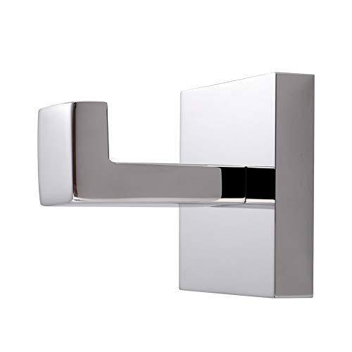 Bath Towel Hook, Angle Simple Solid Metal Bathroom Shower Square Hook Hand Towel Bathrobe Sponges Hanger Kitchen Cabinet Closet Hook Pants And Shirt Holder Polished Chrome, Wall Mounted
