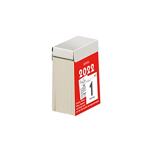 herlitz 50035953 Abreißkalender Gr.1 2022, 4 x 6 cm, 1 Stück