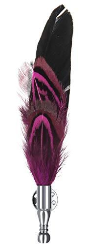 EOZY-Spilla di Piume Decorazione Cappello Accessario Creativo Moda Signora Decorazioni Ciondolo Pin Clip (Rosso di Rose)