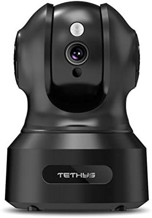 TETHYS Wireless Security Camera 1080P Indoor Work with Alexa Pan Tilt WiFi Smart IP Camera Dome product image