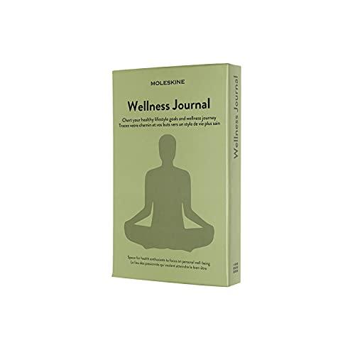Moleskine Wellness Journal (Themen-/ Hardcover Notizbuch zur Überwachung Ihrer Gesundheits, und Fitnessziele, 13 x 21 cm, 400 Seiten)