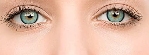 Farbige Kontaktlinsen Ohne Stärke , Weiche Kontaktlinsen mit großen Augenfarben Vergrößern Sie,Augen Frauen Make-up Kosmetische Kontaktlinsen ,großen Augenfarben (Blau)