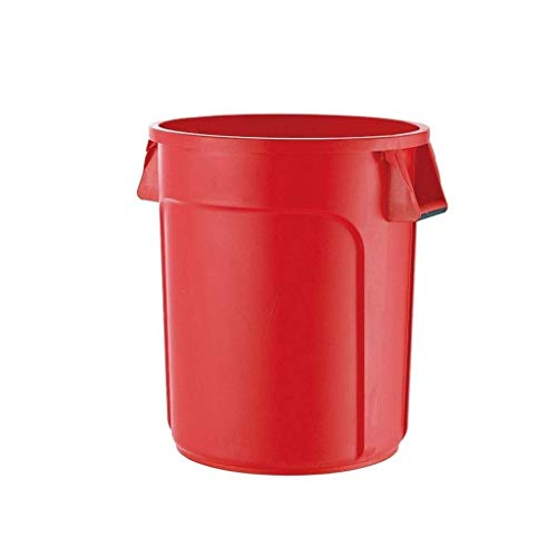 Amazing Deal JHEY 75L Outdoor Dustbins Large with Lid Round Thick Plastic Storage Bucket Trash Can B...