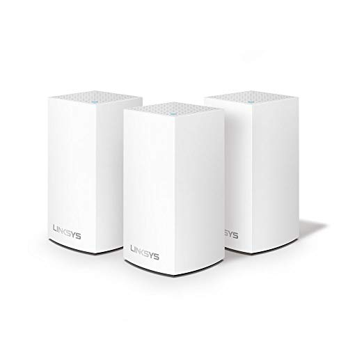 Linksys Velop Intelligent Whole Home WiFi Mesh System, 3-Pack, AC3900, Works with Alexa, Ideal for Medium to Large Homes, 2 Years Warranty