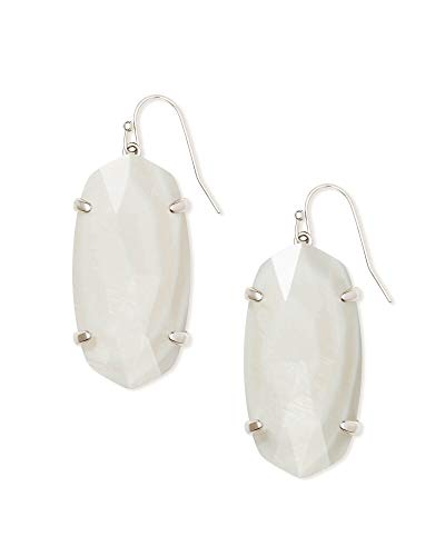 Kendra Scott Esme Earrings Rhodium/White Mother-Of-Pearl One Size