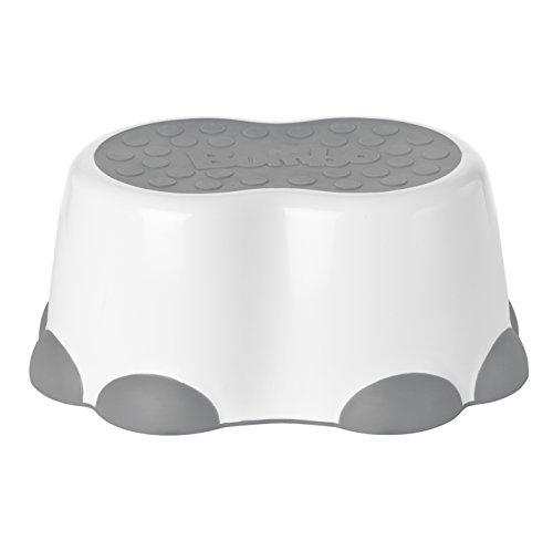 Bumbo Step Stool, Cool Grey, White