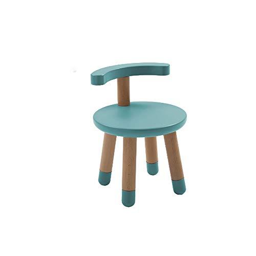 NXYJD Mode Kinderhocker Rückenlehne Kleiner Stuhl gepolstert Baby nach Hause Massivholz Stuhl Kindersitz