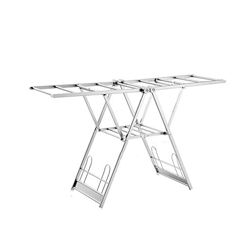 KWY Clothes Airer-Drying Rack with Plenty of Laundry Space-Saving Drying Rack for Utility Room And Kitchen-Made of Aluminum Alloy