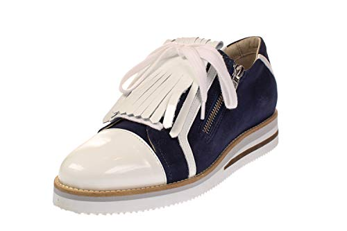 Maca Kitzbühel 2428 - Damen Schuhe Slipper Sneaker - Navy-Silver, Größe:39 EU
