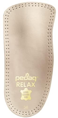 Pedag Relax Herren - das bequeme Fußbett mit Pelotte und ausgeprägter Fersenmulde (Gr. 40-46) + Rema Einlagenbeutel (44 EU, Hellbraun)