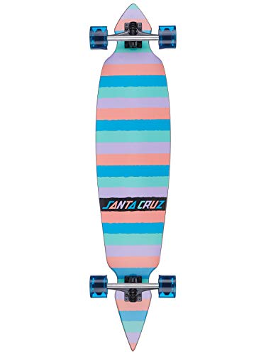 Santa Cruz Longboard Complete Colored Strip - 43.59 Inch Multi (Default, Azul)