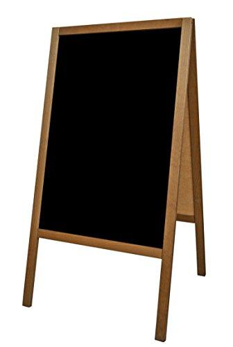 Cliente tope expositor publicidad soporte pizarra Pizarra de publicidad negro cliente madera XS 90 x 51 cm