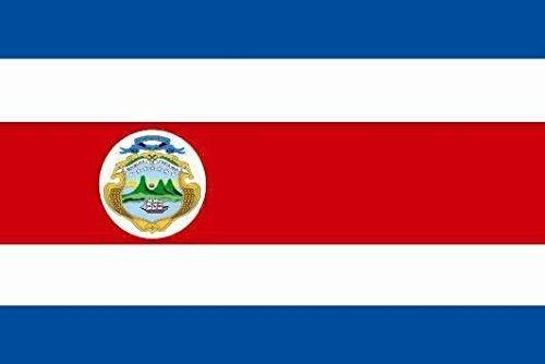 U24 sticker Costa Rica vlag vlag vlag 8 x 5 cm autosticker sticker