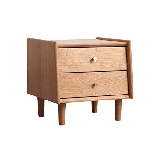 H-CAR Kommode Schlafzimmer Kirschholz Nachttisch Nordic Modern Japanese Nightstand Cabinet mit Holzbeinen für Wohnzimmer