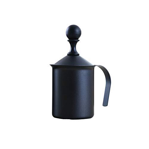 MZGN Espumador De Leche Manual De Acero Inoxidable De Doble Capa De Estilo Japonés De 400 CC, Espumador De Leche, Utensilios De Café