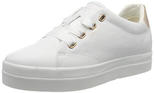 GANT Footwear Damen AVONA Sneaker, Weiß (Br.Wht./Rose Gold G296), 39 EU