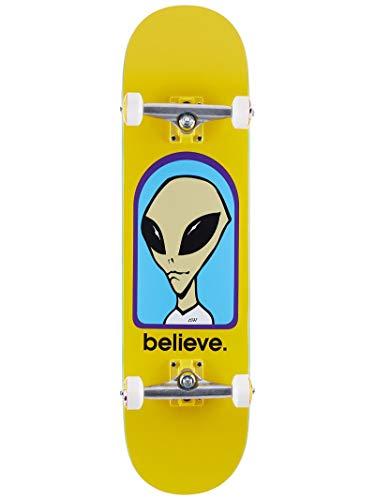 Alien Workshop Believe - Skateboard per Bambini, Giallo, 8.25 inch