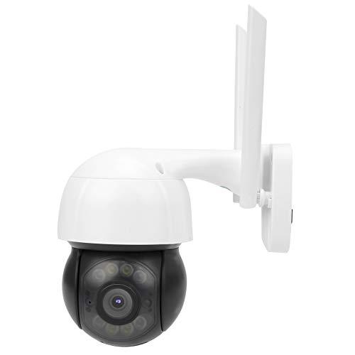 Cámara wifi inalámbrica, cámara wifi de 3mp Ptz Pir, cámara domo a todo color con visión nocturna por infrarrojos, audio bidireccional, ip66 a prueba de agua para interior y exterior seguridad(UE)