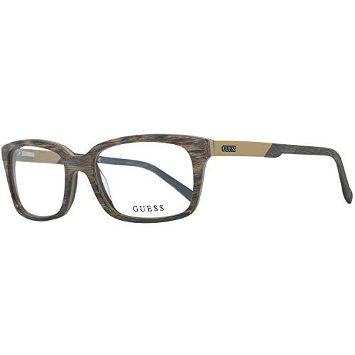 Guess Brille Gu1846 K57 54 Monturas de gafas, Marrón (Braun), 54.0 para Hombre