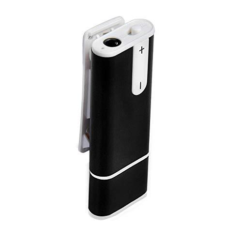 Dictáfono Digital, 16 GB, Portátil, Grabadora De Voz Digital, Grabadora De Voz Digital Portátil, con Micrófono para Grabación, Entrevistas, Reuniones Y Estudiantes (Color : Black(32GB))