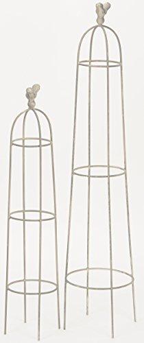 dekorativer Garten-Obelisk Rank-Obelisk Rank-Hilfe Rosen-Gitter Preis für 1 x groß und 1 x klein