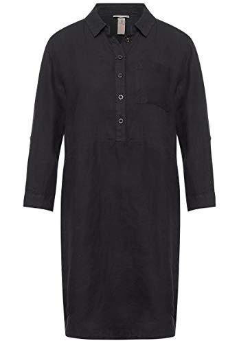 Street One - Kleid aus Leinen in Magnet Grey Größe 46