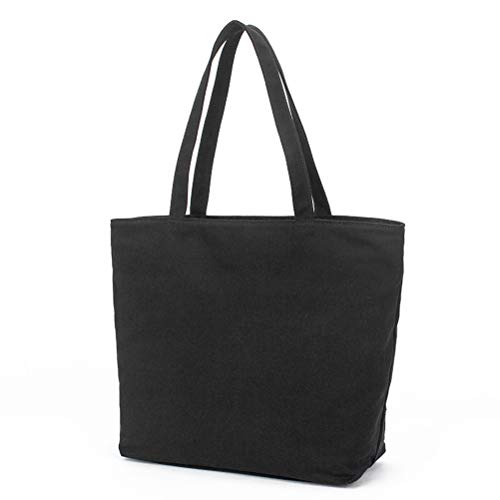 jlon Cotton Tote Canvas Bag, Heavy Duty Grocery Bag Reusable Large Shopping...