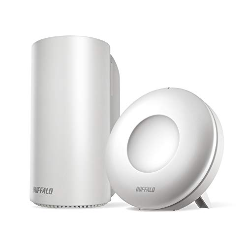 BUFFALO WiFi 無線LAN AirStation connect 親機+中継機セットモデル WRM-D2133HP/E1S 11ac ac2200 1733+400Mbps デュアルバンド 独自メッシュ機能搭載 3LDK 15台 【iPhone8/iPhoneX/iPhoneXS/Amazon Echo メーカー動作確認済み】