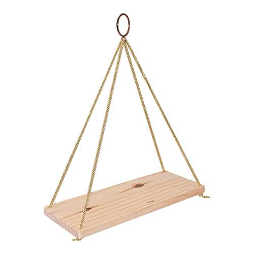 DEDC - Scaffale da parete in legno per appendere la corda a dondolo, mensole galleggianti per vaso di fiori, decorazione da parete per la casa (35 x 10 cm)