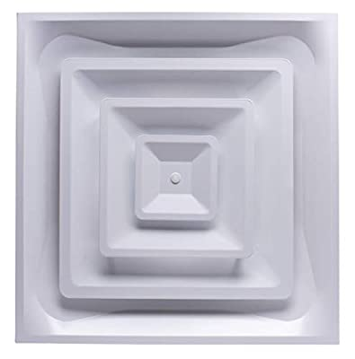 """Accord Ventilation ABCD2X2 Ceiling Diffuser, 24"""" x 24"""", White"""