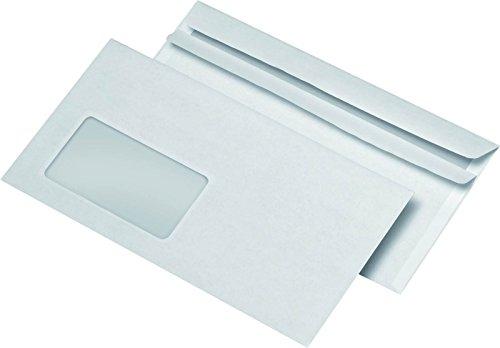 3.000er Großpackung Briefumschläge DIN LANG mit Fenster, selbstklebend