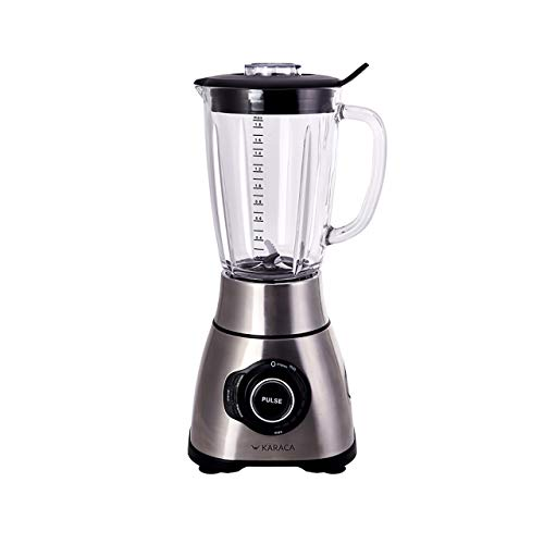 Karaca- Powermix Smoothie Blender 1801-Standmixer Glas - 1.8 Behalter 1800 Smoothie maker - Cocktail Shaker-Mixer Smoothie Maker - Mixer Hochleistungsmixer