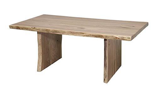 Table basse 120x70x45cm - Bois d'acacia laqué (Bois naturel) - Design naturel - PURE EDGE #305