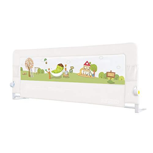 Barrières de lit LHA Universelle pour lit d'enfant (Hauteur 66 cm) (Couleur : Blanc, Taille : L-150cm)