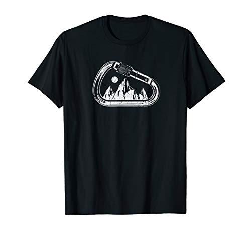 Kletter Boulder Berge Karabiner Klettern Geschenk T-Shirt