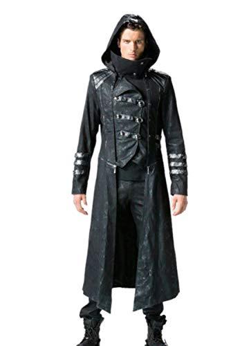 Punk Rave Dark Dreams Steampunk Gothic Military Mantel Jacke Kapuze Scorpion M L XL XXL XXXL 4XL, Größe:XXXXL