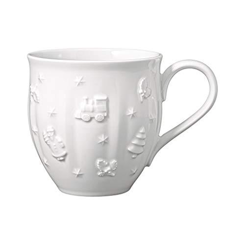 Villeroy und Boch - Toy's Delight Royal Classic Becher mit Henkel, große Tasse mit Reliefmuster, Premium Porzellan, 0,5 L, weiß