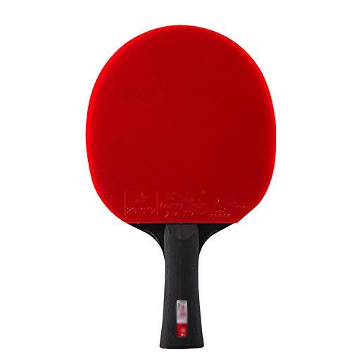 Offensiver Tischtennisschläger, 5-Sterne-Profi-Tischtennis-Schläger, Rutschfester Griff, für Anfänger und Fortgeschrittene Geeignet/Single racket/Langen Griff