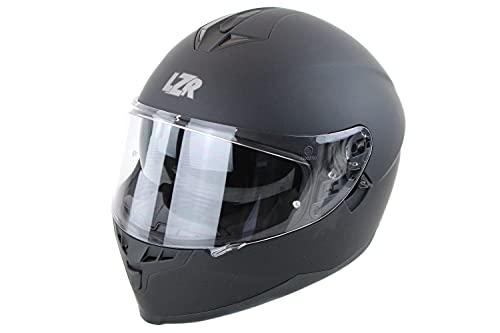 Marushin Motorrad Helm Lazer - FullFace FH3 Z-Line - Schwarz Matt, Größe: XS bis XXL, Helmgröße:M