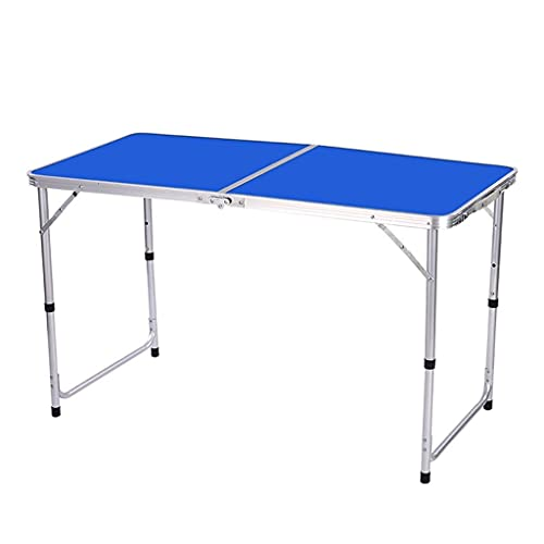 Computer Table Folding Desk, Writing Desk for Home Office, Folding Desks for Small Spaces, Foldable Table with Frame, Non-Slip, Waterproof, Scratch Resistant,Blue