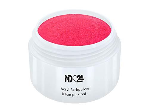 Acryl Farbpulver Neon Pink Red Rosa Rot - Feinstes Farb Puder Pulver Powder - Studio Qualität