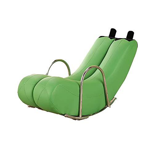 Daka Chair Lazy Banana Recliner Rocking Chair,Single Steel Armchair for Indoor & Outdoor Bedroom Recliner Seat,Multi-Color Optiona,Green